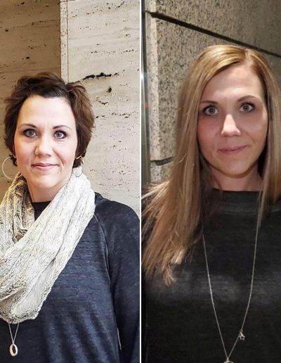 Chemo Girls Hair Extensions Before and After